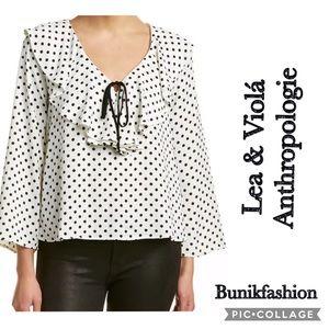 Lea & Viola Anthropologie blouse